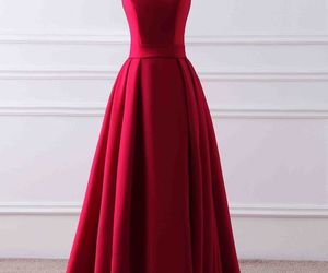 ball gown, prom dress, and red image