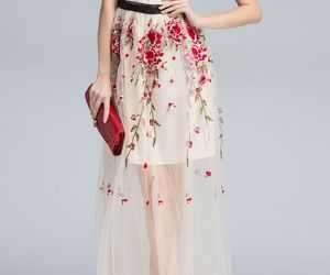 party dress, homecoming dress, and floral printed image