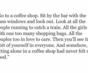alone, coffee, and introvert image