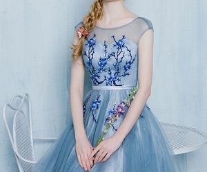 a-line, floral, and homecoming dress image