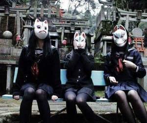 masks, school girls, and japanese image