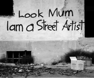 street, artist, and mum image