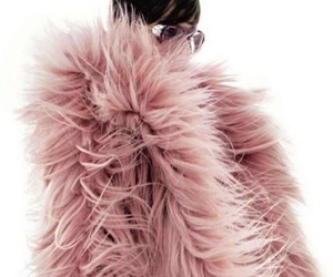 pink, fashion, and coat image