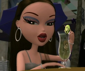bratz, cartoon, and drink image