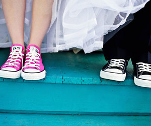converse, cute, and wedding image