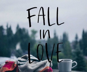 autumn, coffee, and fall in love image