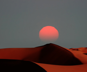 desert, dune, and evening image