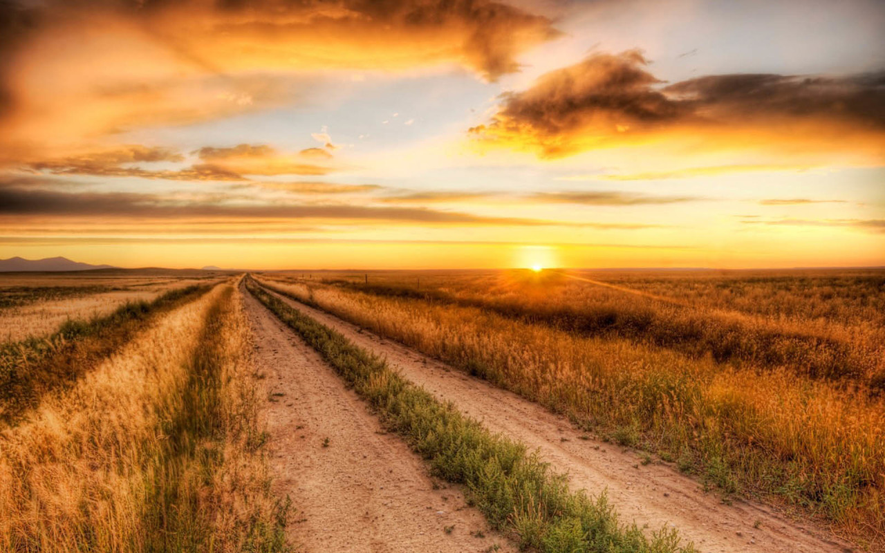 nature, sunset, and country image