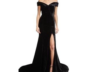 black, black dress, and dress image