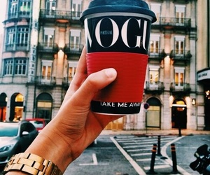 vogue, coffee, and city image