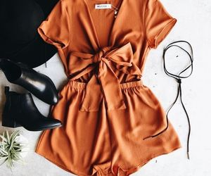 fashion, outfit, and romper image