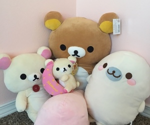 kawaii, pink, and rilakkuma image