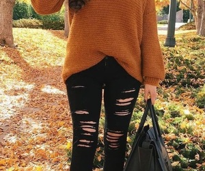 autumn, fashion, and jeans image