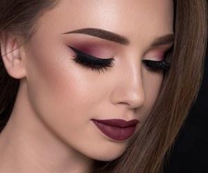 eyeshadow, eyebrows, and eyelashes image