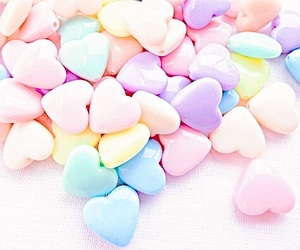 pastel, aesthetic, and hearts image