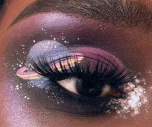 makeup, art, and galaxy image