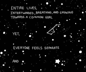 black, quotes, and space image