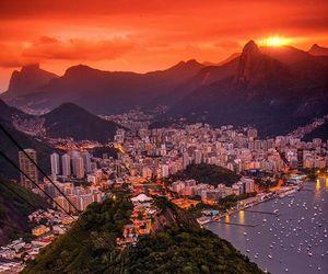 brazil, rio de janeiro, and sunset image