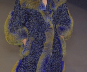 coat, aesthetic, and blue image