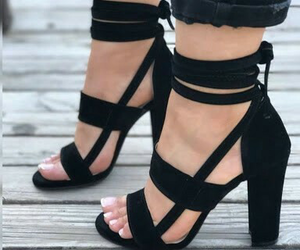 high heels, platform, and shoes sandals image