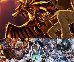 anime, duelo de monstruos, and cartas image