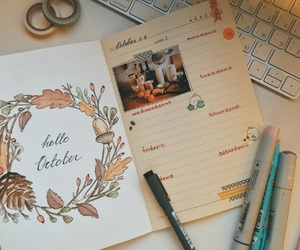 autumn, cozy, and diary image