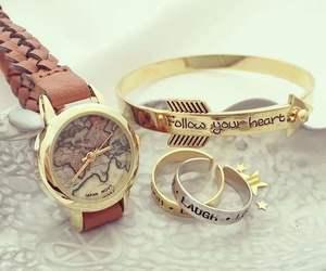 bracelets, follow your heart, and girly image