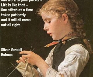 knitting, wow, and quotes image
