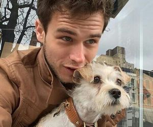 brandon flynn, 13 reasons why, and dog image