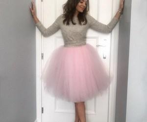 balerina, dress, and pink image
