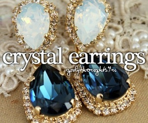 crystal earrings and girly thoughts image