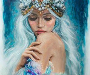 art, blue, and dibujo image