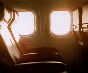 airplane, plane, and photography image