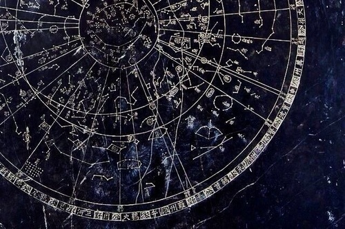 astrology, blue, and stars image