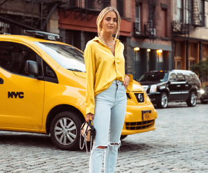 fashion, taxi, and yellow image