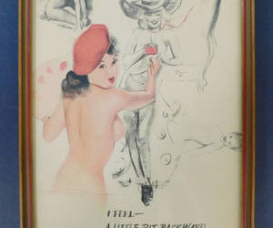 burlesque, vintage pin-up, and etsy image