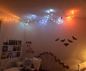 bedroom, decor, and fall image