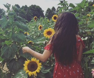 fashion, flowers, and happygirl image
