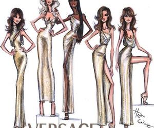 Versace and fashion illustration image