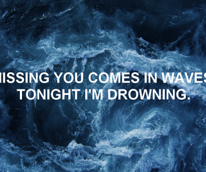 quotes, waves, and tumblr image