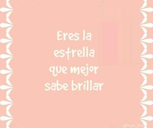rosa, frases en español, and letras blancas image