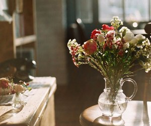 warm, flowers, and home image
