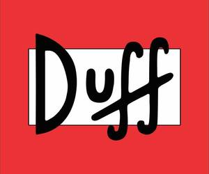 wallpaper, Duff, and red image
