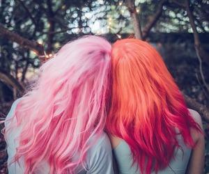 hair, long hair, and orange hair image