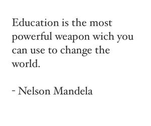 education, quotes, and nelson mandela image