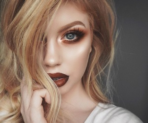 beauty, blonde, and eye shadow image