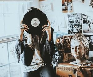 girl, music, and photography image