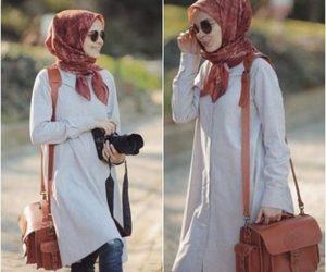 fall, hijabista, and hijab fashion look image