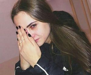 cry, girl, and grunge image