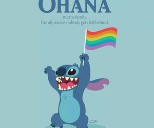 ohana, gay, and stitch image